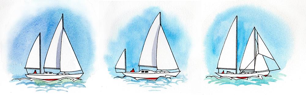 Parti di una barca a vela: alberatura