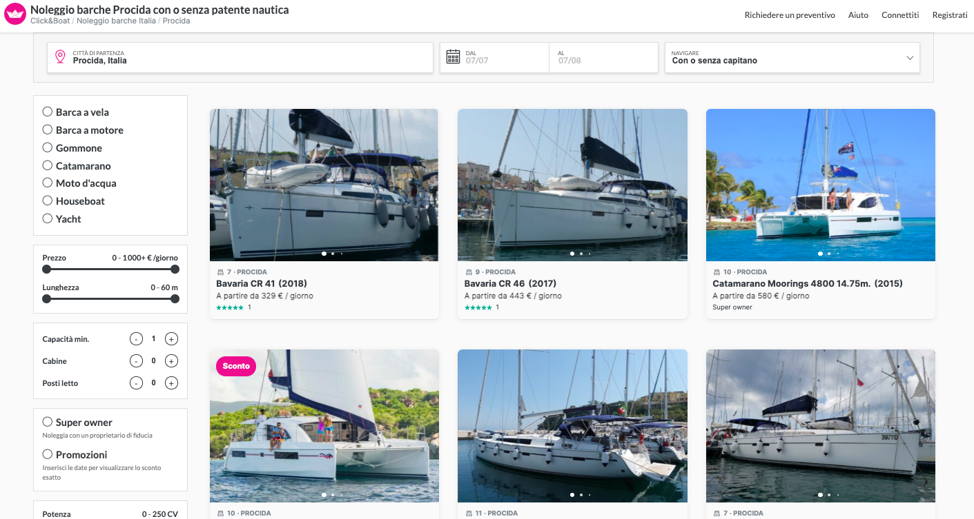 Click & Boat ricerca