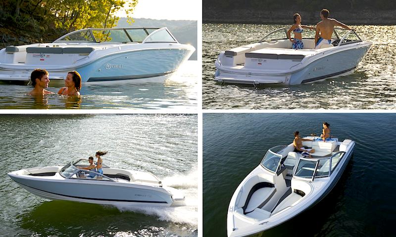 Una tipica imbarcazione open dotata di tutti i comfort per passare una giornata ideale al sole. Foto: Cobalt
