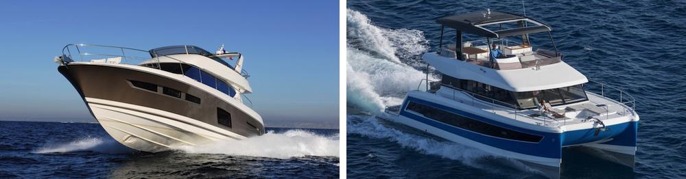 Gli scafi dominano il mercato, ma i catamarani riscuotono molto successo nel charter per la loro manovrabilità, comodità e spazio.