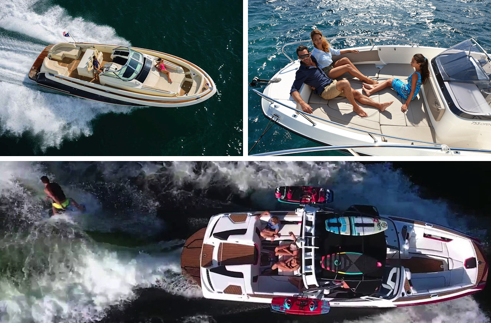 Esistono diversi tipi di lancia con prua aperta: senza dubbio la barca ideale per godere di una calda e tranquilla giornata a bordo o per praticare sport acquatici.